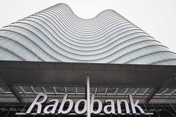 The exterior of the headquarters of Dutch co-operative bank Rabobank in Utrecht.