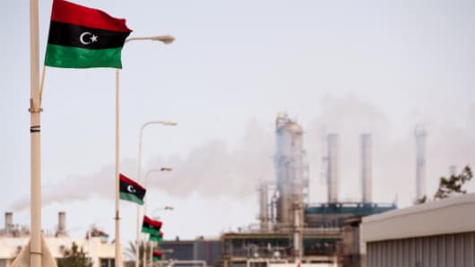 An oil refinery in Zawiya, Libya.