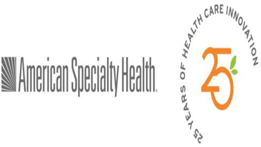 American Specialty Health 25 Years Logo