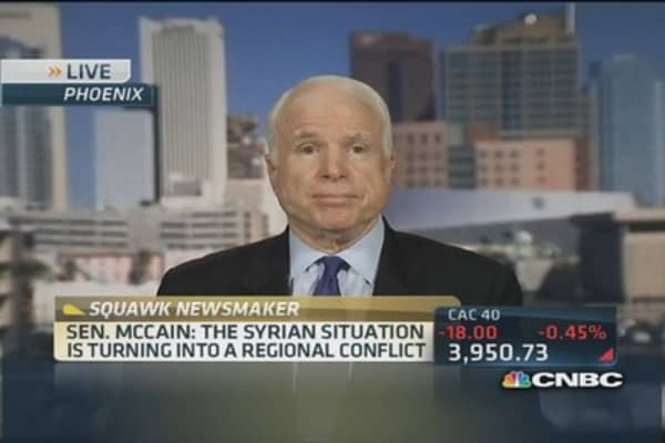 Sen. McCain: It would be easy to establish a safe zone in Syria