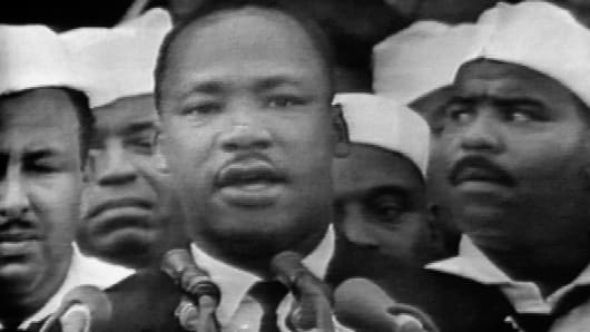 Rev. Martin Luther King Jr. in Washington, Aug. 28, 1963