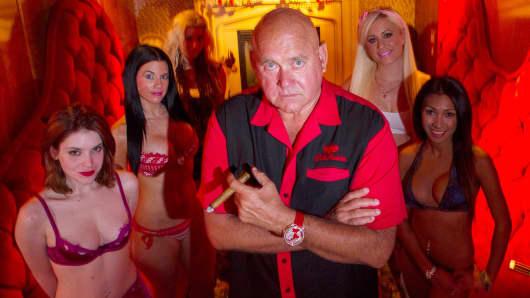Dennis Hof, inside his Moonlite Bunny Ranch in Carson City, Nev.
