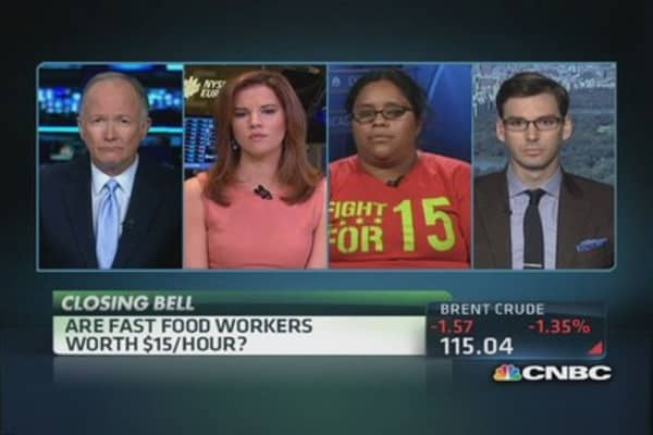 Fast food workers worth $15/hour?