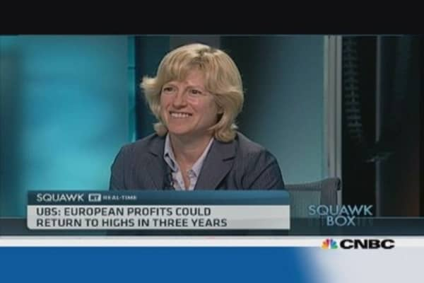 Europe is due some profit growth: UBS