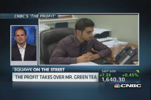 'The Profit' takes over Mr. Green Tea