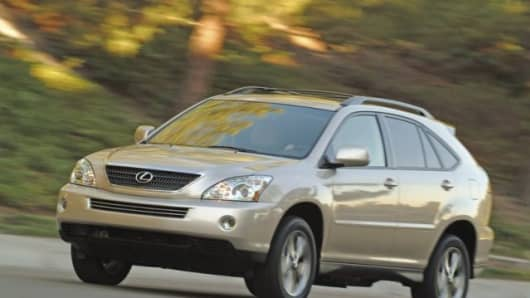The Lexus RX400H Hybrid