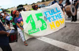 Protesters at a Walmart store Sept. 5, 2013, in Miami Gardens, Fla.