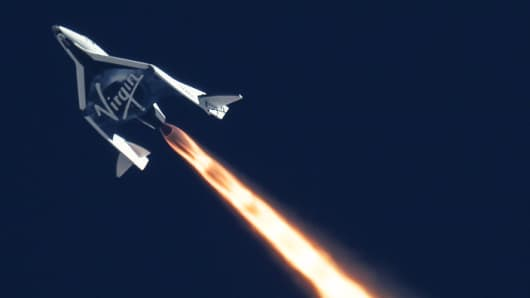 Flight of Virgin Galactic's SpaceShipTwo over the Mojave Desert, Sept. 5, 2013 captured by MARS.