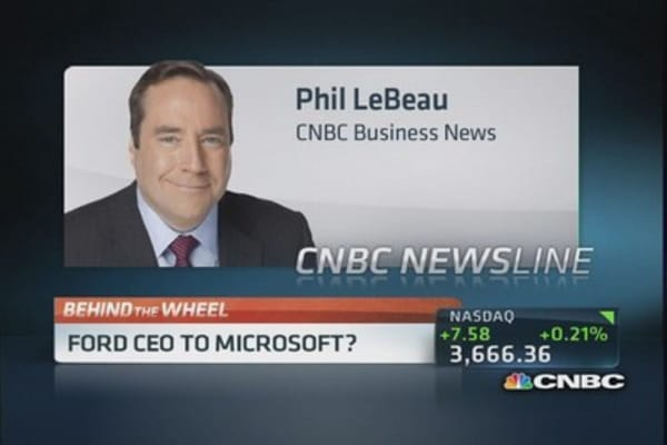 Ford CEO to Microsoft?