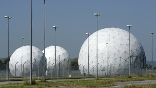 The former monitoring base of the NSA in Bad Aibling, southern Germany