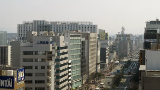 The Japanese city of Fukuoka