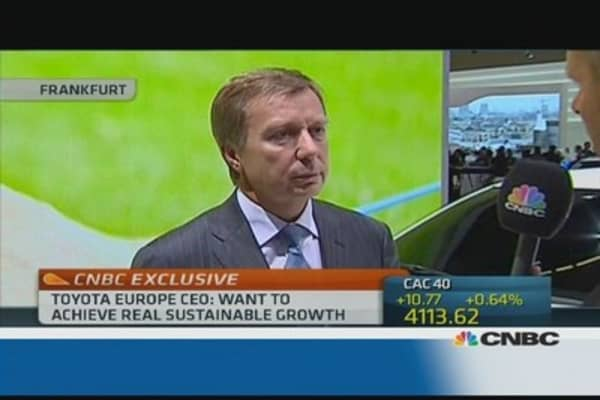 Europe CEO: Toyota will grow in Europe