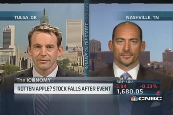 Rotten Apple? Stock falls after event