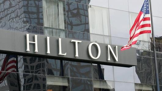 The Hilton Hotel in New York.