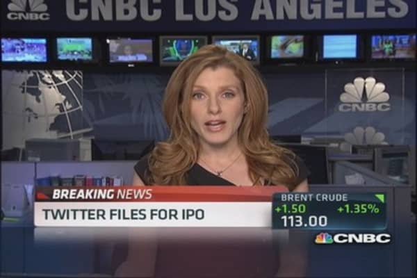 Twitter files for an IPO