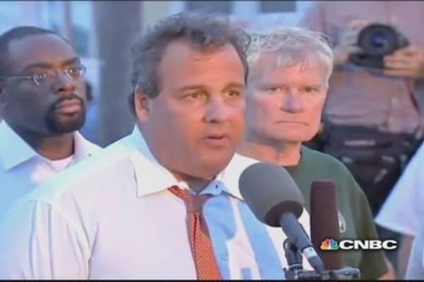 Gov. Christie on Seaside fire