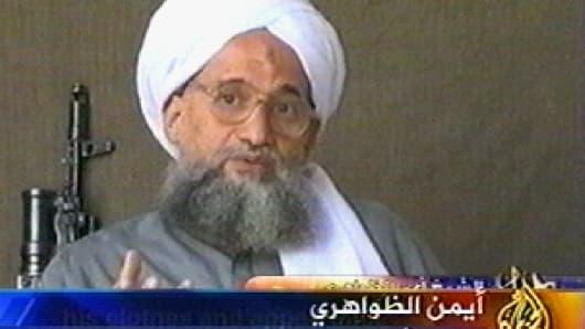 File photo of al-Qaeda leader Ayman al-Zawahri.