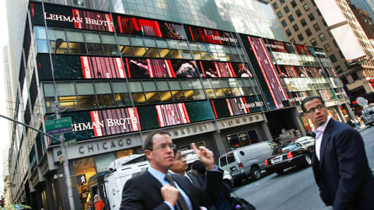 Lehman Brothers building in New York.