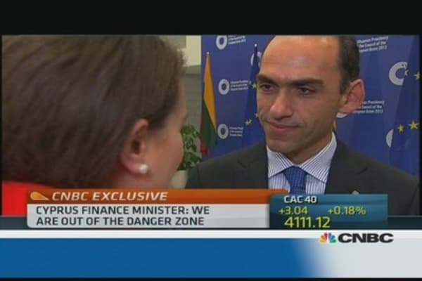 Cyprus is 'out of danger': fin min