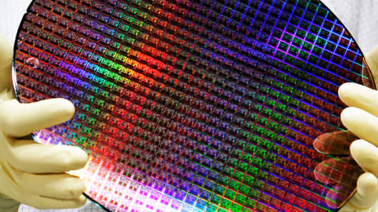 Microprocessor wafer