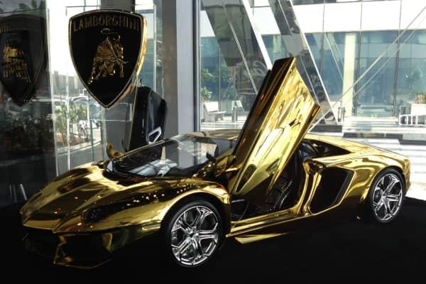 Gold Lamborghini: Selling for $7.5 million