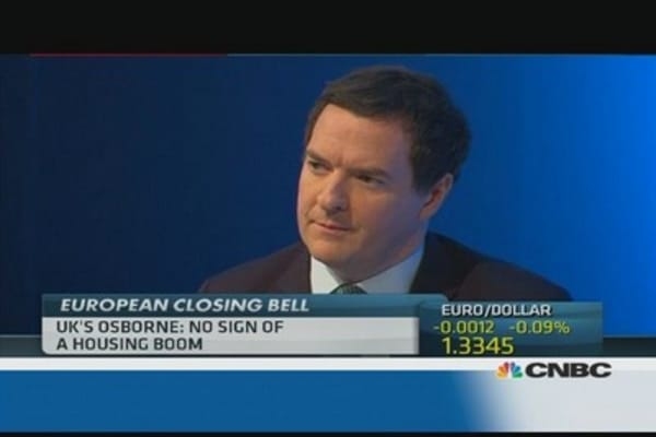 Osborne: There's no housing boom in UK