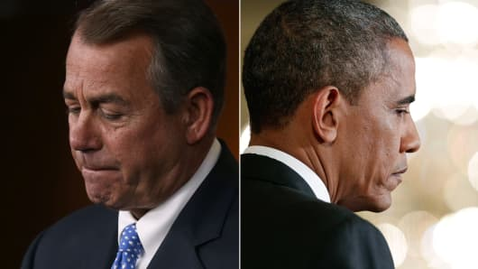 House Speaker John Boehner and President Barack Obama.