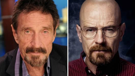 "John McAfee wants ""Breaking Bad"" actor Bryan Cranston to play him."