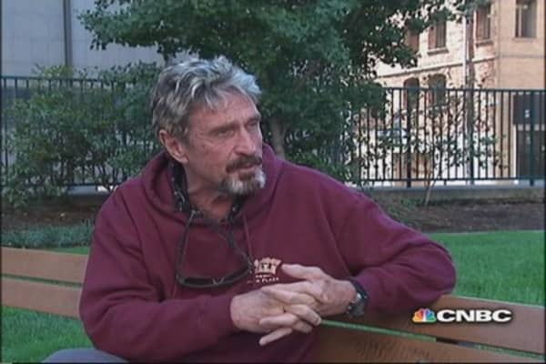 John Mcafee: Working on a new type of communication