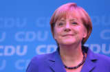 Angela Merkel, German Chancellor and Chairwoman of the German Christian Democrats (CDU).