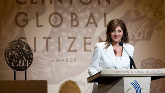 Maria Bartiromo speaks during the 2010 Clinton Global Citizens Awards at the conclusion to the annual Clinton Global Initiative (CGI).