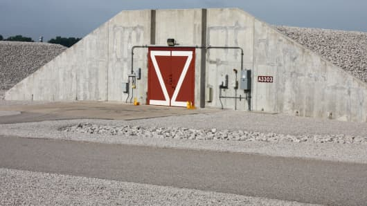 Igloos at the Newport Chemical Depot safely stored the ton containers containing nerve agent VX.