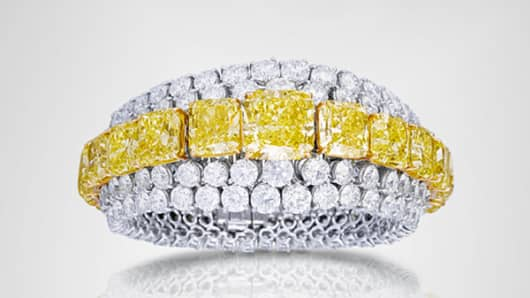 Graf Yellow and White Diamond Bracelet