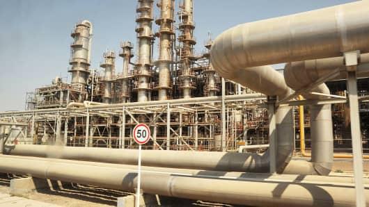 Iranian oil industry installation in Mahshahr, Khuzestan province