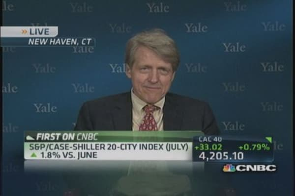 Shiller's take on housing hot spots