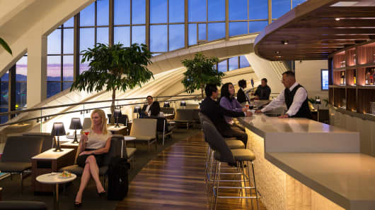 Star Alliance lounge at L