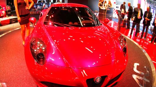 An Alfa Romeo 4 C