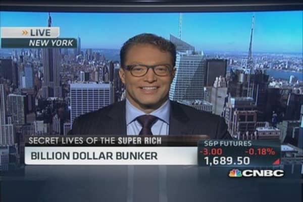 Super rich hunker down in $3 million bunker