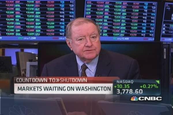 Markets waiting on Washington