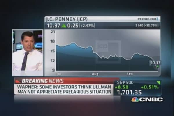 JCP's Ullman says company will not need to raise capital now