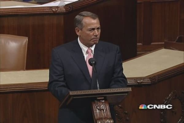 Boehner mocks Obama on House floor