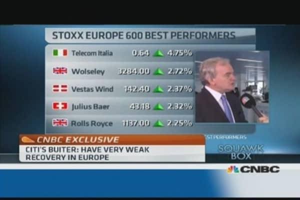 Euro zone recovery 'very weak': Citi's Buiter