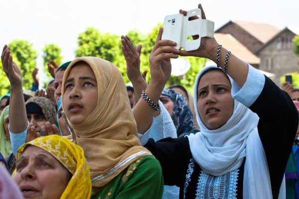 MUSLIM DEVOTEES PRAY AT HAJRATBAL ON OCCASION OF MEHRAJ-U-ALAM