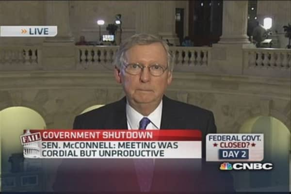 Sen. McConnell: Shutdown will end