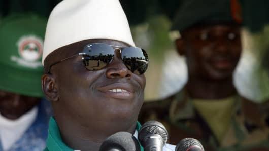 Gambia's President Yahya Jammeh.