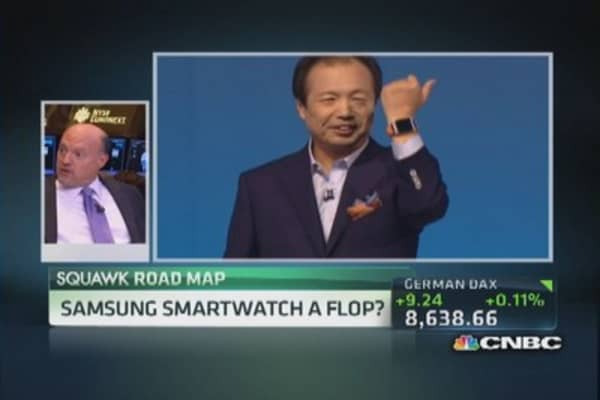 Cramer: Samsung's smartwatch is a 'paint by numbers' device