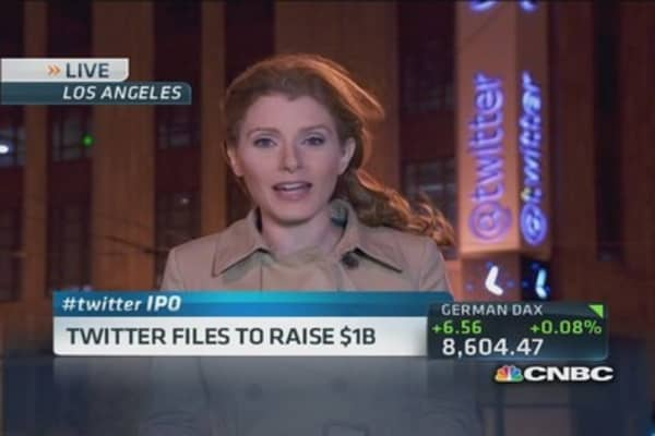 Twitter files to raise $1 billion