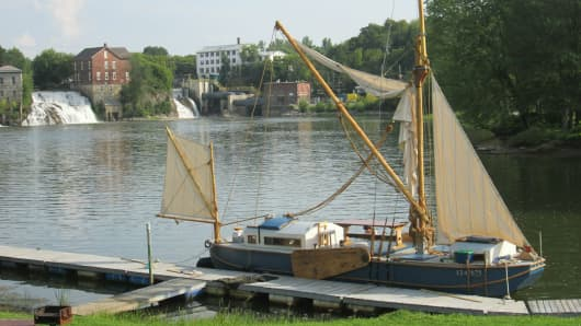 Ceres docked in Otter Creek at Vergennes Falls, Vt.