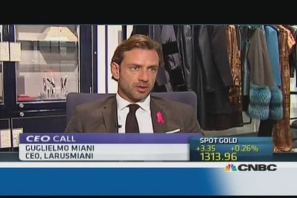 'Stupid' Italian cash law hitting fashion industry: Miani