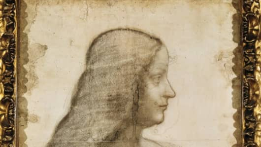 The sketch of Isabella d'Este, ca 1500, by Leonardo da Vinci